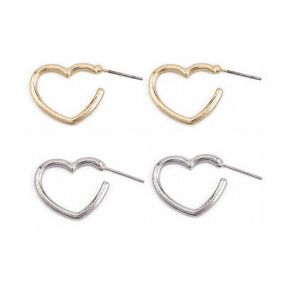 Charming Ladies Hollow Love Heart Shape Earrings For Friend Birthday Gift one