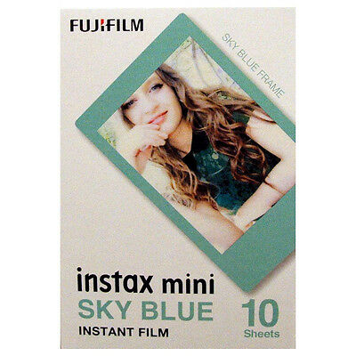 Fuji INSTAX mini Sky Blue Frame Instant Film - Free UK Delivery