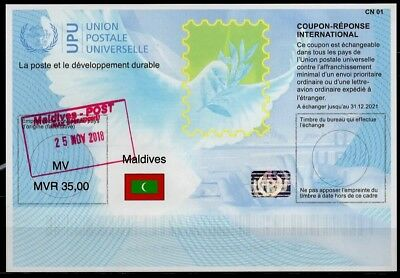 MALDIVES Is41  20180515 AA Intern. Reply Coupon Reponse Antwortschein IRC IAS oo