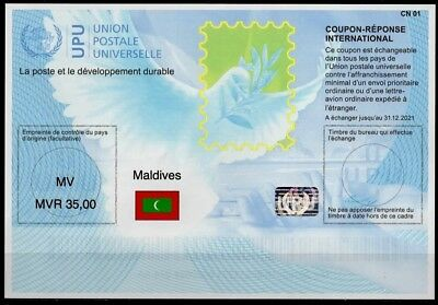 MALDIVES Is41  20180515 AA Intern. Reply Coupon Reponse Antwortschein IRC IAS **