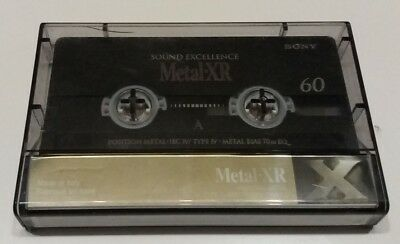 Cassette Sony Metal-XR 60 (type IV, metal), used