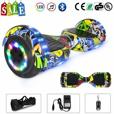 """Hoverboard 6.5"""" Led Bluetooth Speaker Scooter Overboard Monopattino Street ~~"""