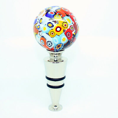 Multi-Coloured Handmade Authentic High Quality Wine Bottle Stopper from Venice