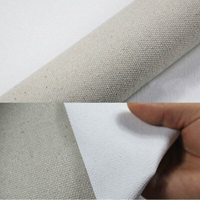 Premium Quality Triple Primed Artist Blank Canvas Roll 1.7 x 5m Cotton and Linen