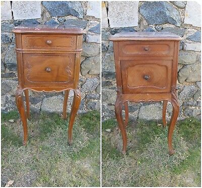 2 Beautiful Antique French Bedside  Cabinets Louis Xv - Provenance