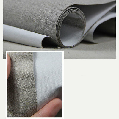 Premium Quality Triple Primed Artist Blank Canvas Roll 1.6m x 10m Pure Linen