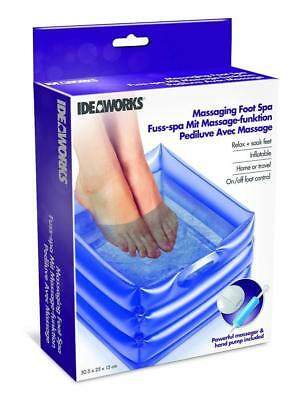 Messaging Foot Spa Soak Basin Wash Pedicure Massage Feet Care Relax Inflatable
