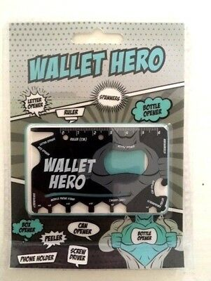 WALLET HERO Credit card size Multi-Tool: Mobile phone holder & multi gadgets