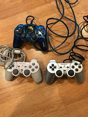 Lot of 3 Official Original OEM Sony Playstation 1 / PS1 / PSOne Controller -
