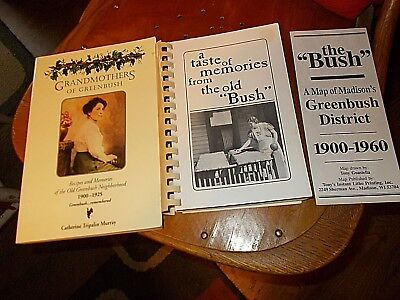 lot 2 vintage cookbooks Greenbush Madison WI 1900-1960 taste of memories Italian