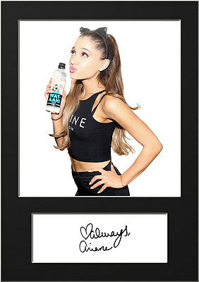 ARIANA GRANDE #4 Signed Photo Print A5 Mounted Photo Print - FREE DELIVERY