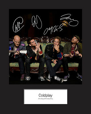 COLDPLAY 10x8 SIGNED Mounted Photo Print - FREE DELIVERY