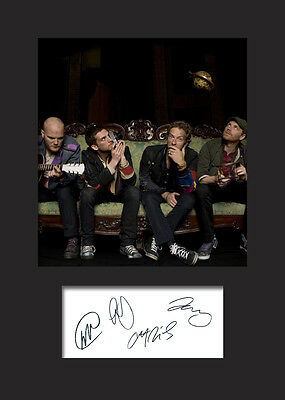 COLDPLAY A5 Signed Mounted Photo Print - FREE DELIVERY