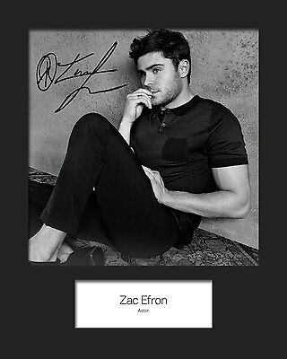 ZAC EFRON #2 Signed 10x8 Mounted Photo Print (REPRINT) - FREE DELIVERY