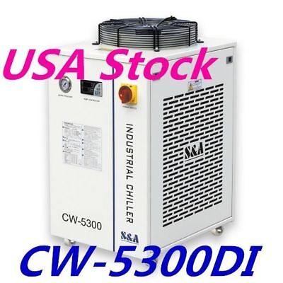 0.91HP CW-5300DI Industrial Water Chiller AC110V 60HZ Cooling System- USA Stock
