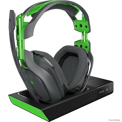 939-001517 Astro A50 Wireless Headset + Base Station - Stereo - Green, Gray -