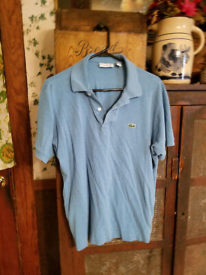 Izod Lacoste Polo  Mens Blue with Alligator Vintage - Size 2XL
