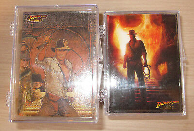Indiana Jones  - 2 x Trading Card Sets - Topps