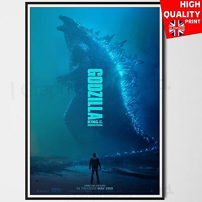 Godzilla King of the Monsters Movie Film Poster Print #2 | A4 A3 A2 A1 |