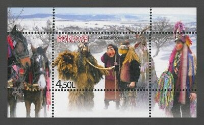Moldova 2011 Christmas MNH Block + stamp