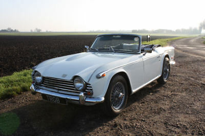 1968 White Triumph Tr5 Genuine Uk Rhd Car With Overdrive