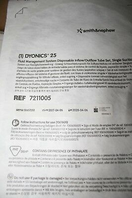 DYONICS 25 Fluid Management System Disposable Inflow/Outflow tube REF# 7211005