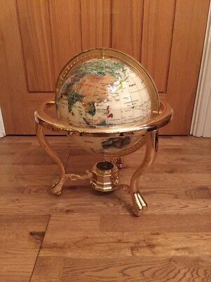 world globe mother of pearl Proof Receipt Inc