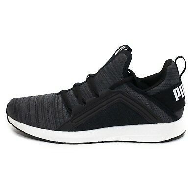 Womens Puma Mega NRGY Heather Knit Black/Grey Trainers (PUF1) RRP £67.99