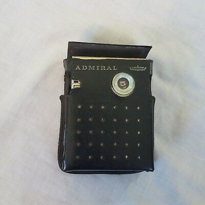 Vintage 1962 Tiny Admiral Transistor Radio Golden Eagle