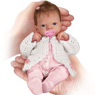 Tiny Lifelike Baby Doll Newborn Clothes Preemie Girl Reborn Hand Painted Soother