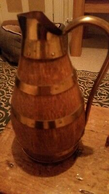 French Wooden Wine Jug With Markings