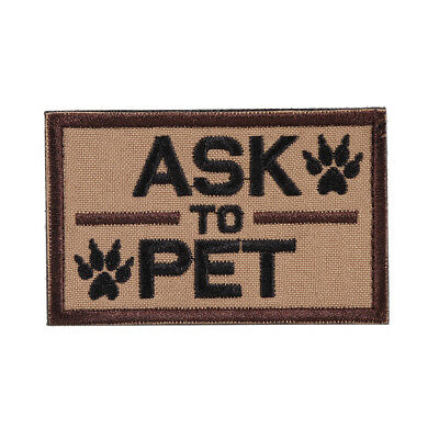OneTigris Tactical Ask to Pet Patch Morale Military Patch K9 Service Dog Patch