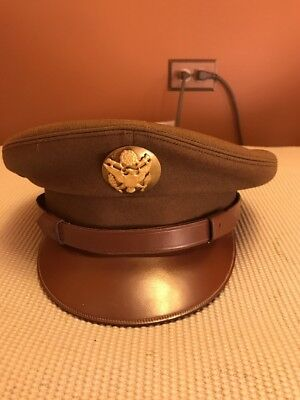 Ww2 Us Army Enlisted Visor Hat Size 7 1/8