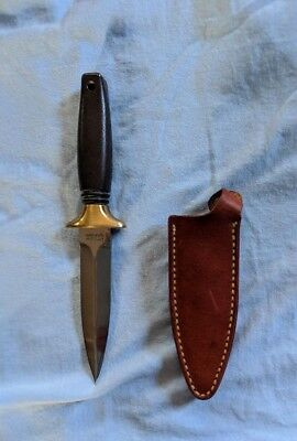 Vintage Kershaw Special Agent Boot Knife/ Dagger With Sheath