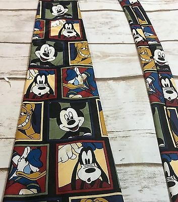 Disney Mickey Unlimited Men's Novelty Tie Polyester Colorful Mickey and Friends