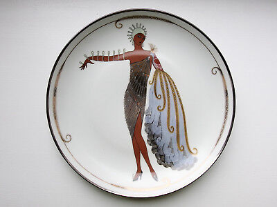 Schöner Wandteller House of Erté DIVA II Porzellan Franklin Mint