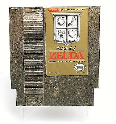 Original Nintendo Nes Legend Of Zelda Gold Video Game ** Works **
