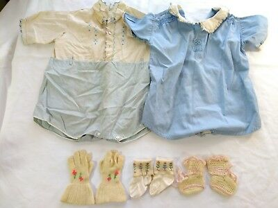 Vintage Baby Clothes Mixed Lot c. 1940s Boy Girl