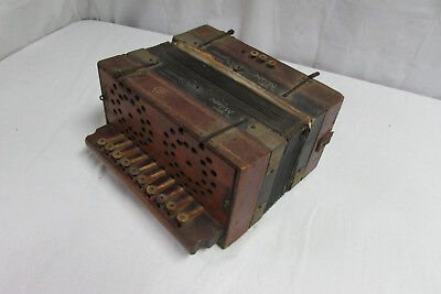 Antique Milano Organetto Mother of Pearl Button Accordion from 1800's Germany