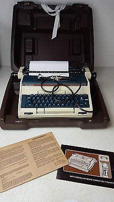 Vintage Blue Smith Corona Executive Correct Electric Typewriter Model 8E Cased