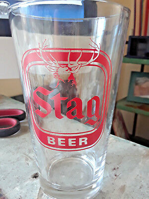 """Vintage 16 oz Stag Beer Glass 5 1/2"""" Tall"""