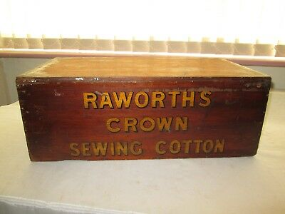 Vintage Antique Raworths Crown Sewing Cotton Haberdashery Shop Display Cabinet