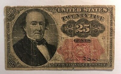 1874 25 Cent U S Fractional Note