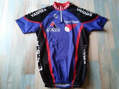 -Maillot  Cycliste Speed Lm St Ave Pays De Vannes Taille L/4 Tbe