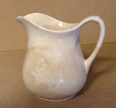 Early 1900s W.S. George White Granite Farmhouse Pitcher (U.S.A. Made )