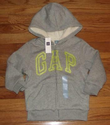 ea27be7f1 BABYGAP GAP NEW Hoodie Boys Toddler Infant Arch Logo Zipper Sweater ...