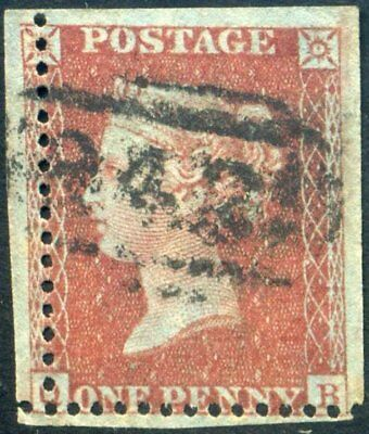 MISPERF 1857 1d Red (QC) LC PERF 14 C8 *Big Stamp*
