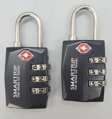 2X  Heavy Duty 3 Digit Padlock Luggage Suitcase Travel TSA Secure Code Lock