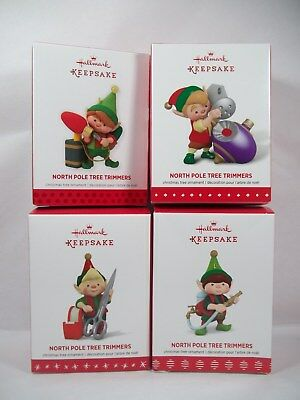 Hallmark North Pole Tree Trimmers Elf 2013 1st, 2015, 2016, and 2017 Ornament
