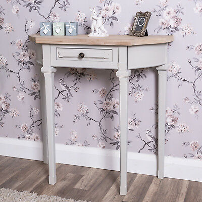 Grey Half Moon Hall Table Console French Chic Hallway Kitchen Living Furniture